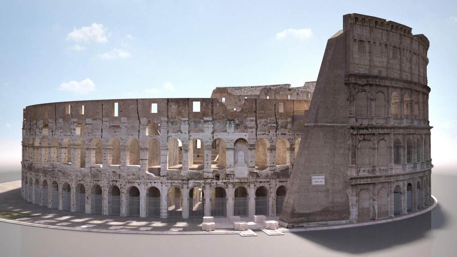 Rome Colosseum Ruins 3D Model