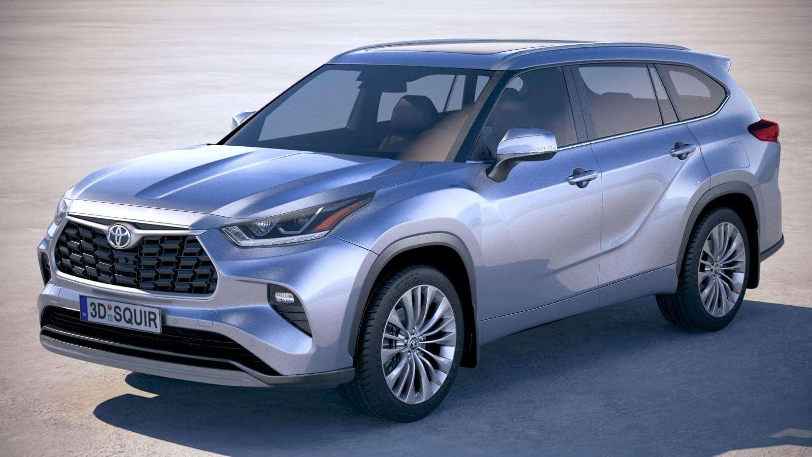 Toyota Highlander 2020 3d Model