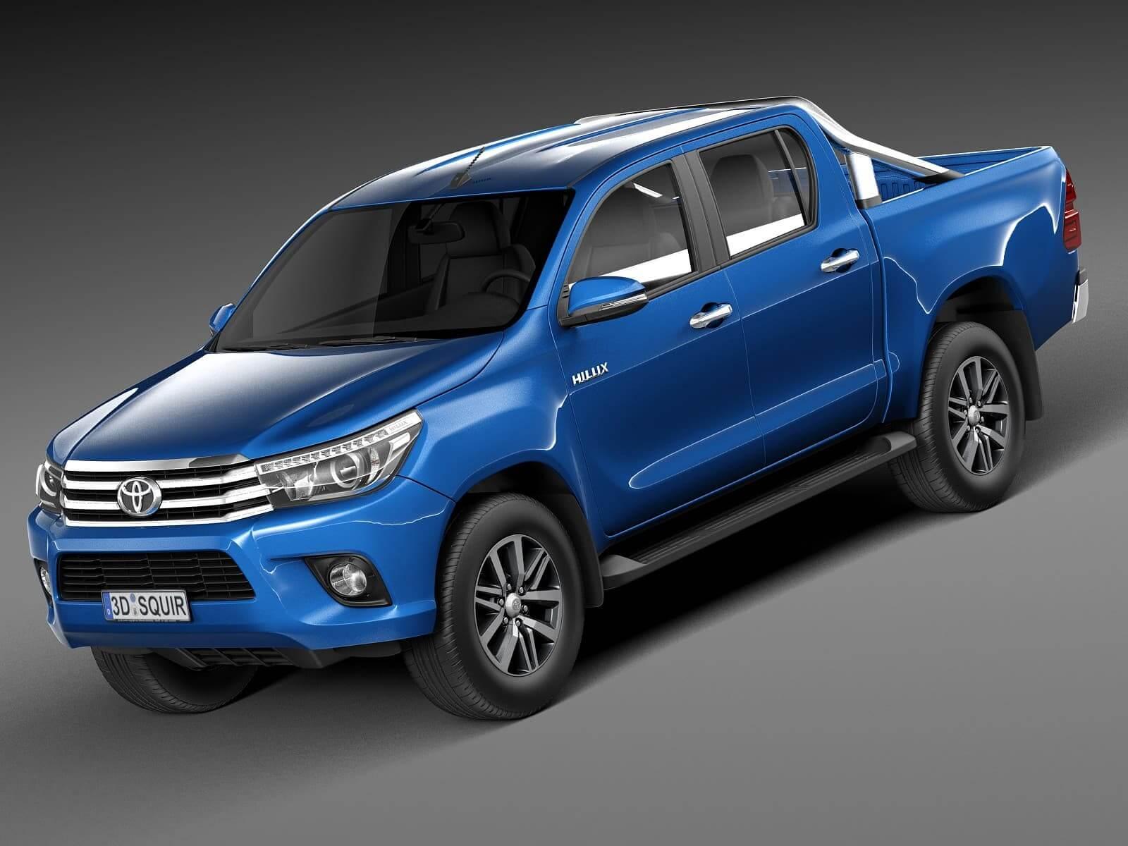 Toyota 2016 Models >> Toyota Hilux Double Cab 2016 3d Model