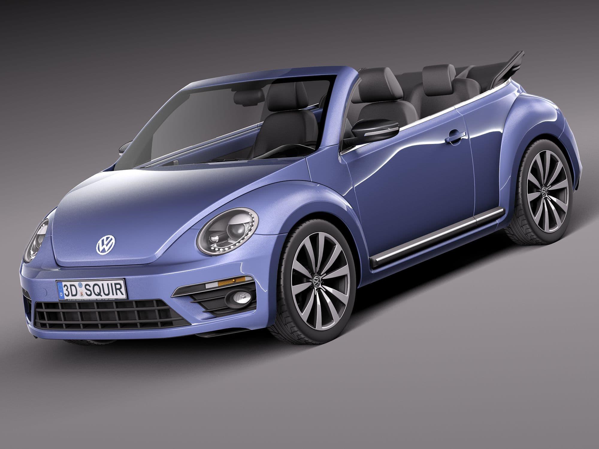Volkswagen Beetle Convertible R Line 2015 3d Model