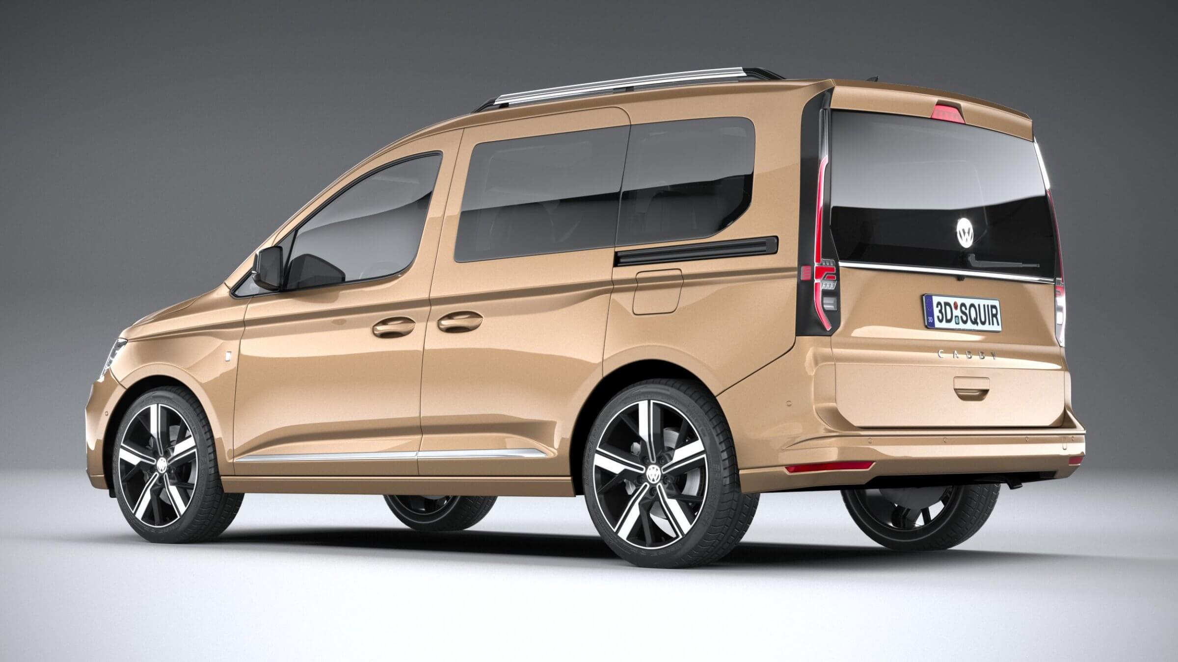 Volkswagen Caddy 2021 3D Model