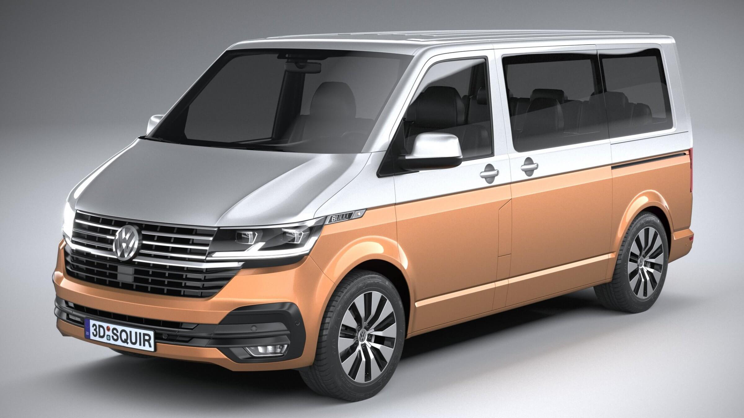 Volkswagen Transporter T61 Bulli 2020 3D Model