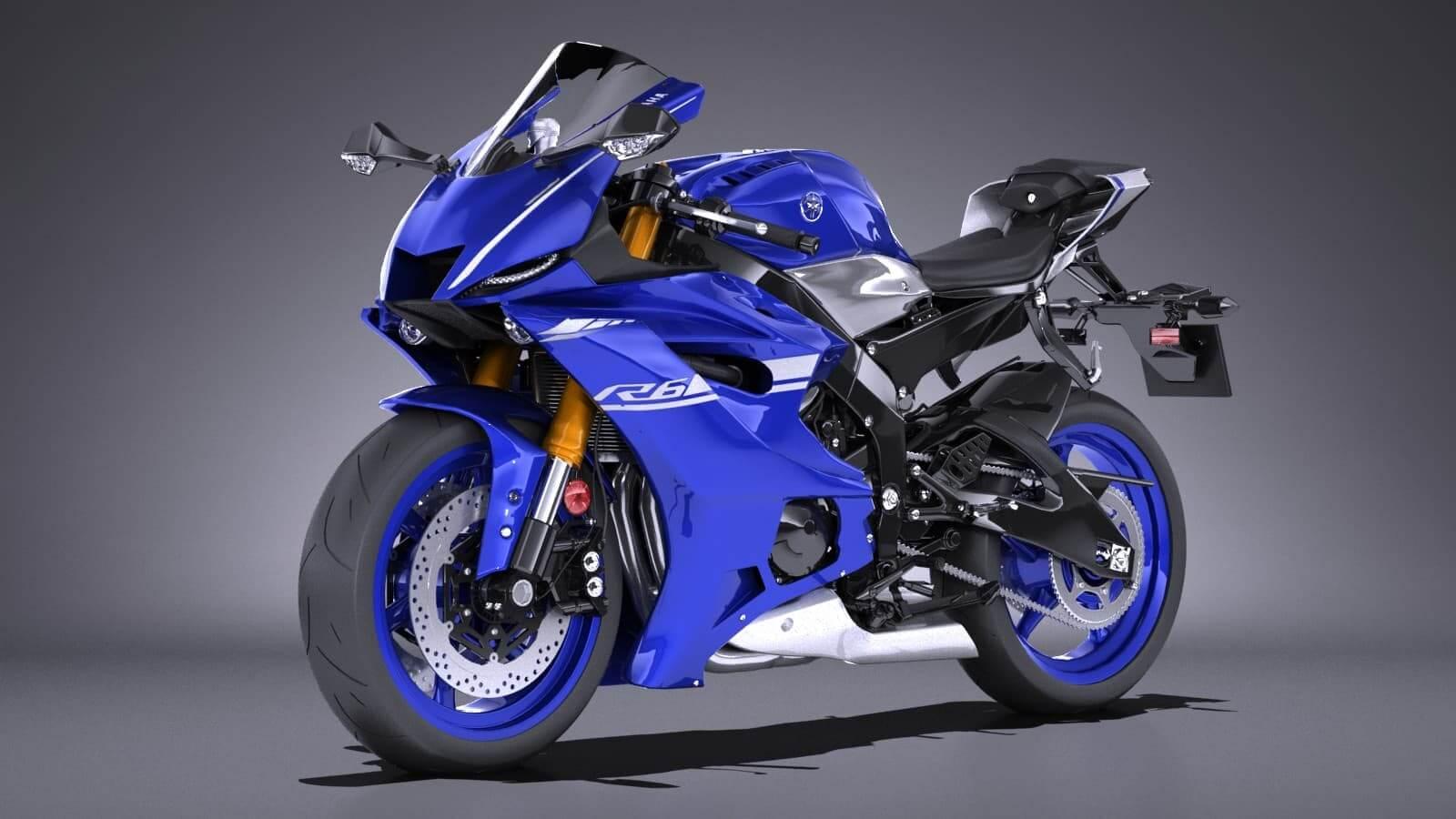Yamaha YZF R6 2018 3D Model