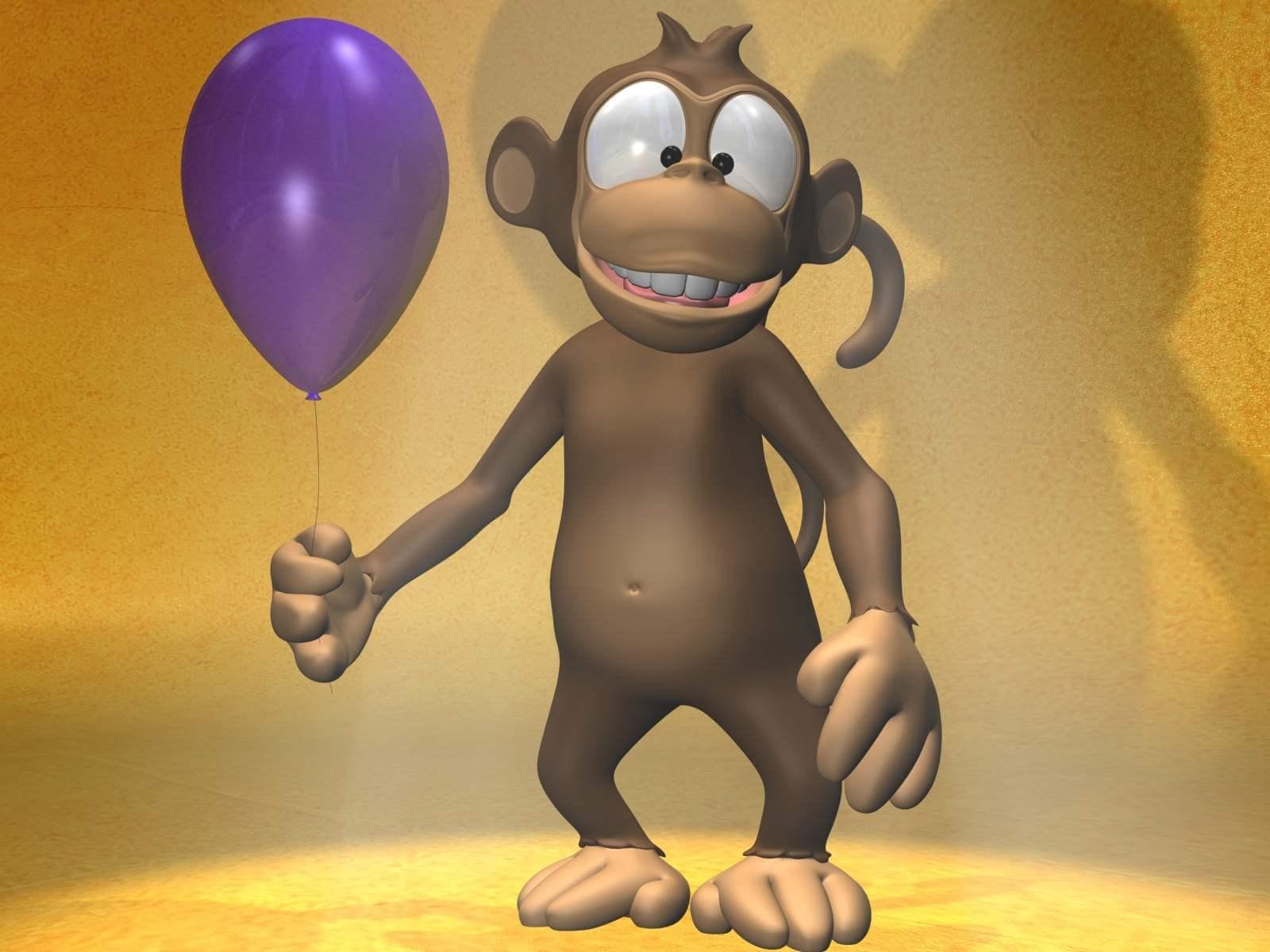 Cartoon Monkey 3D Model