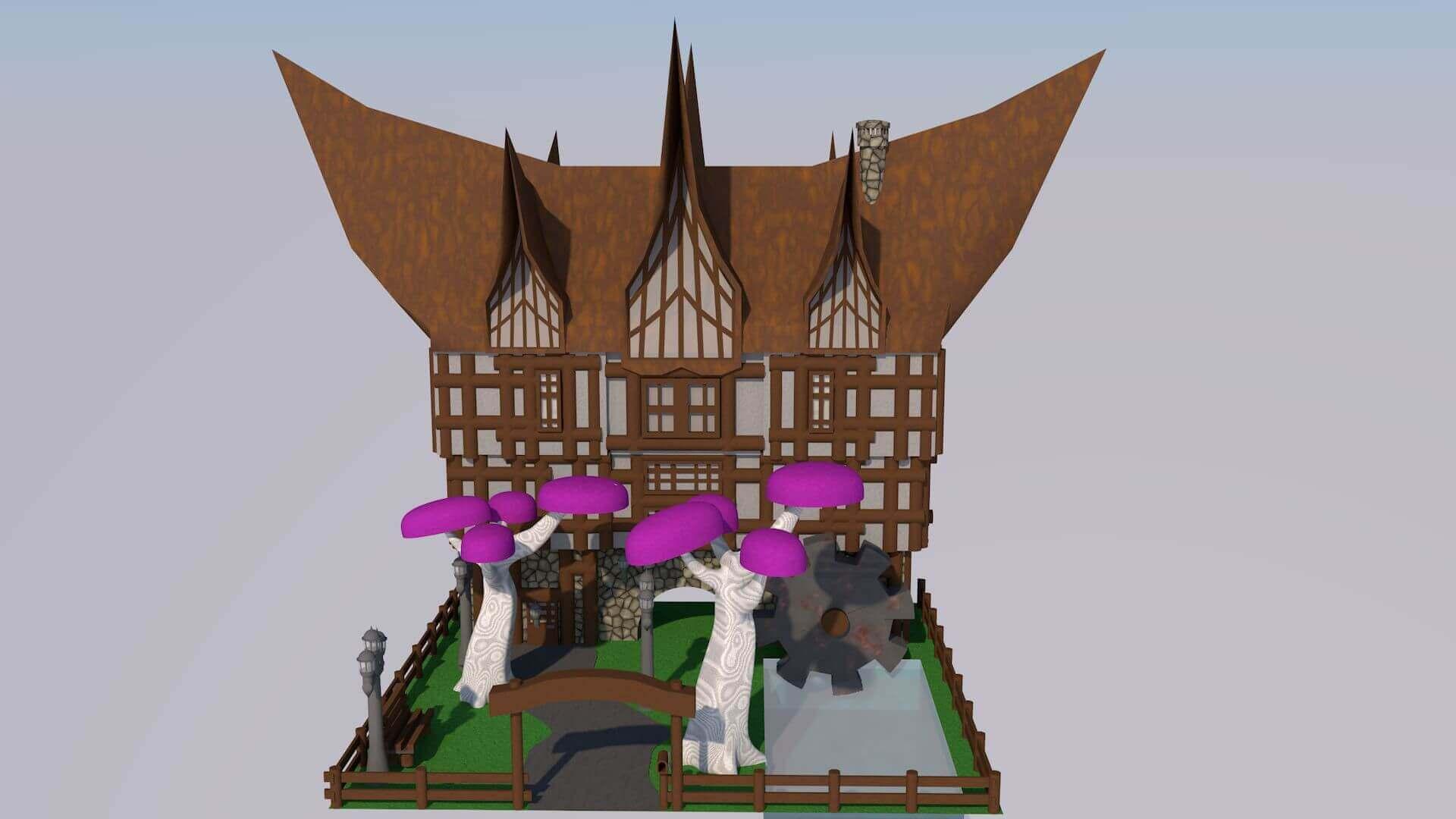 Cartoon dream house 3d model for Dream house 3d