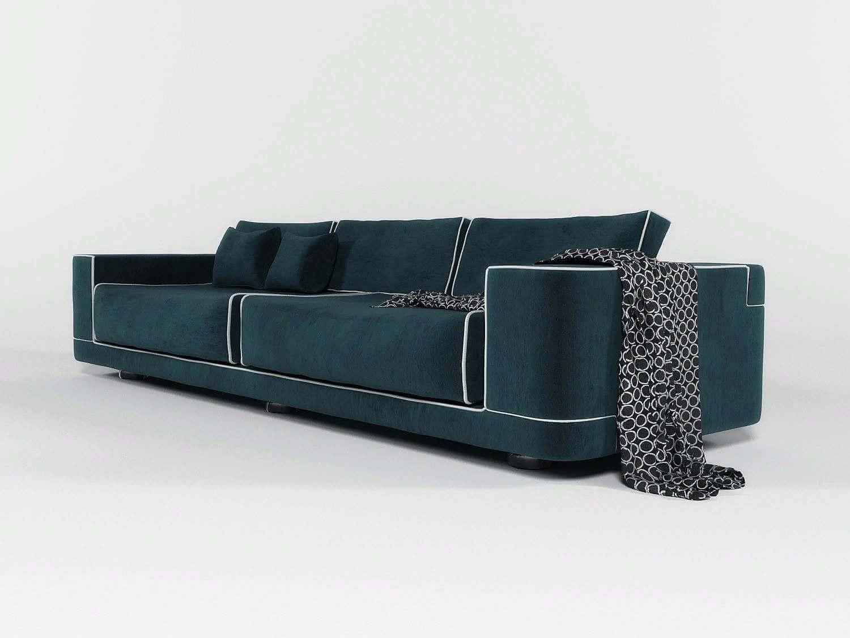 4fbf2debf4b5 FENDI Velvet sofa 3D Model
