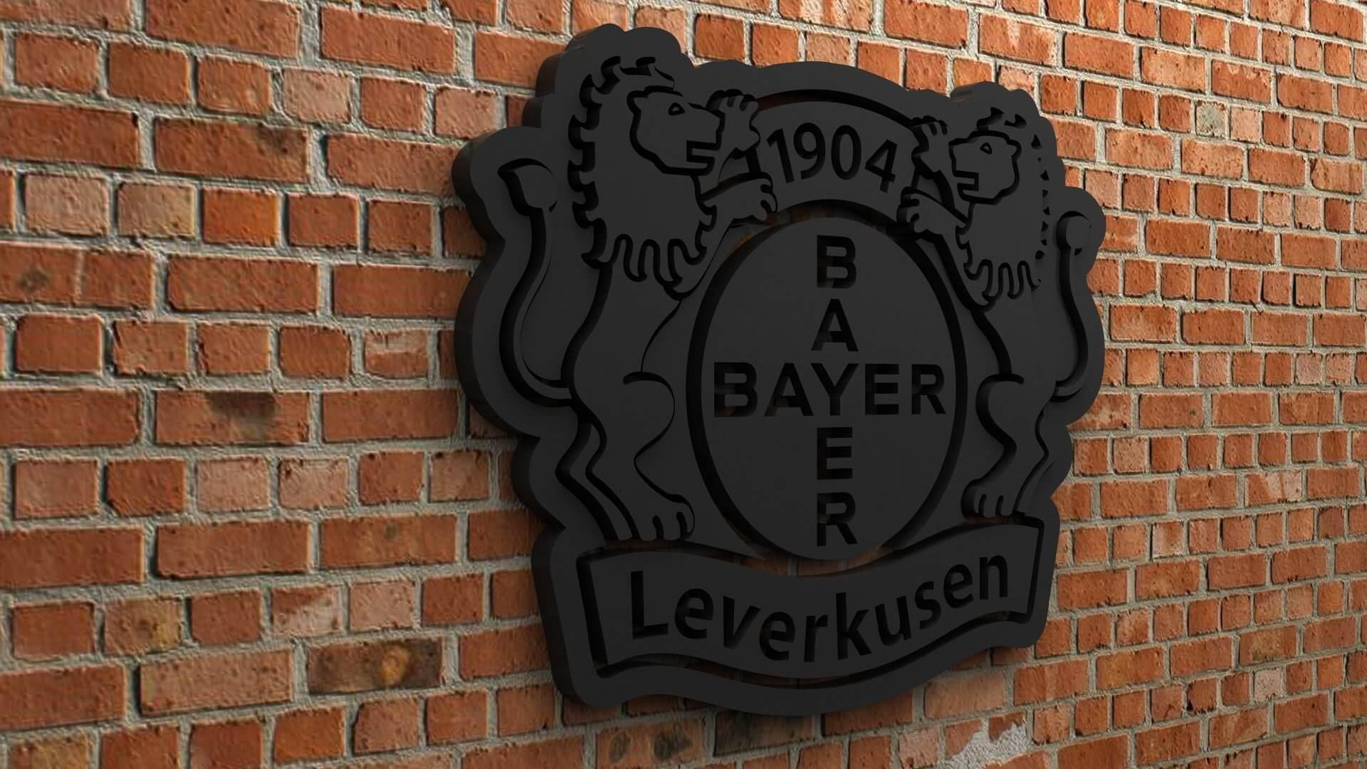 Bayer 04 Leverkusen Logo Print Ready 3D Model