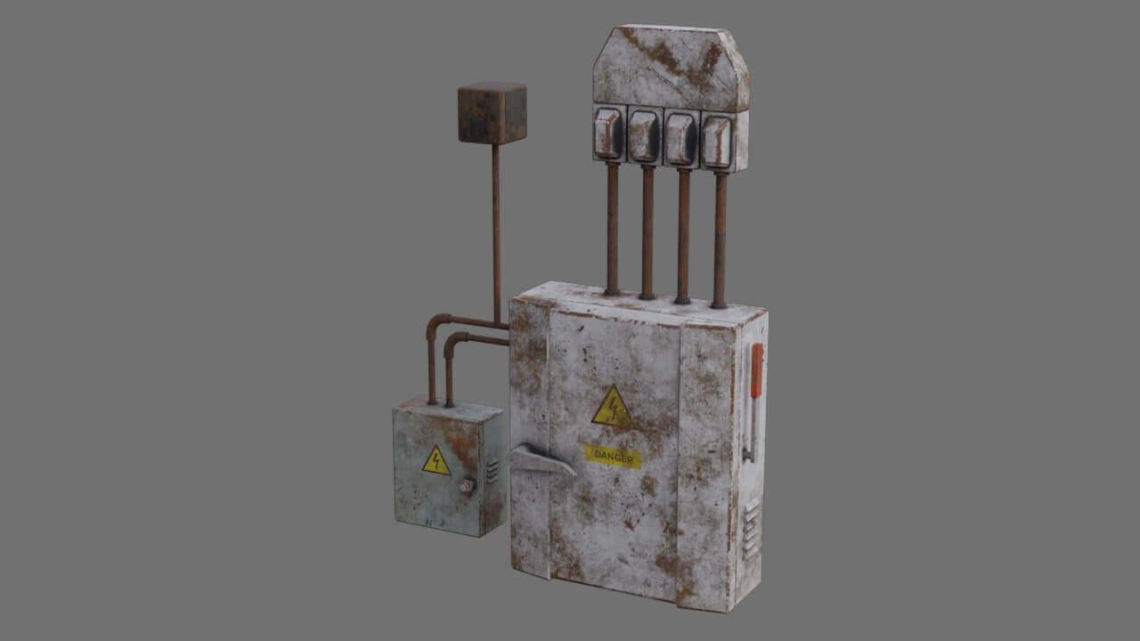 Fuse Box Old 3d Model Help