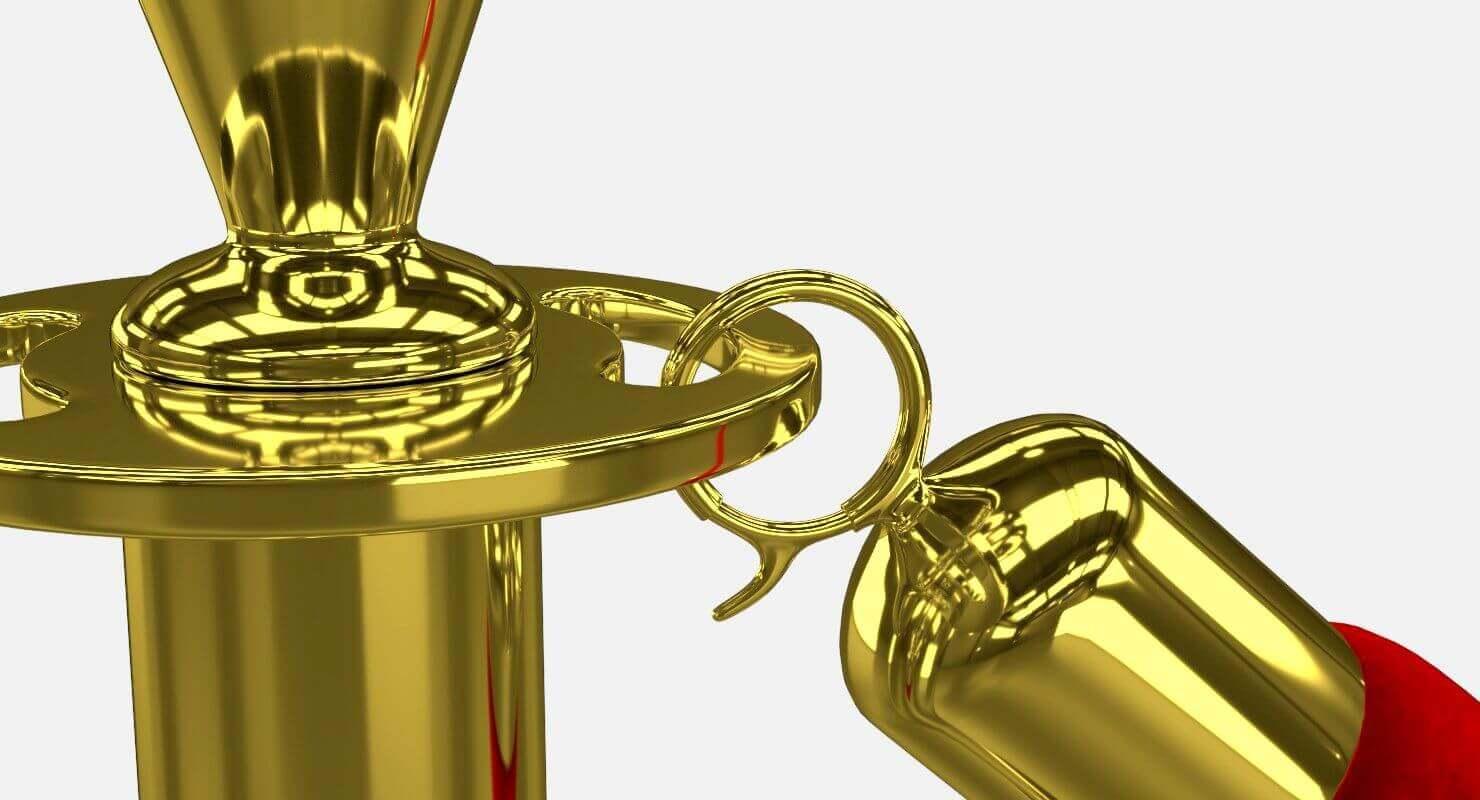 Velvet Rope 3D Model