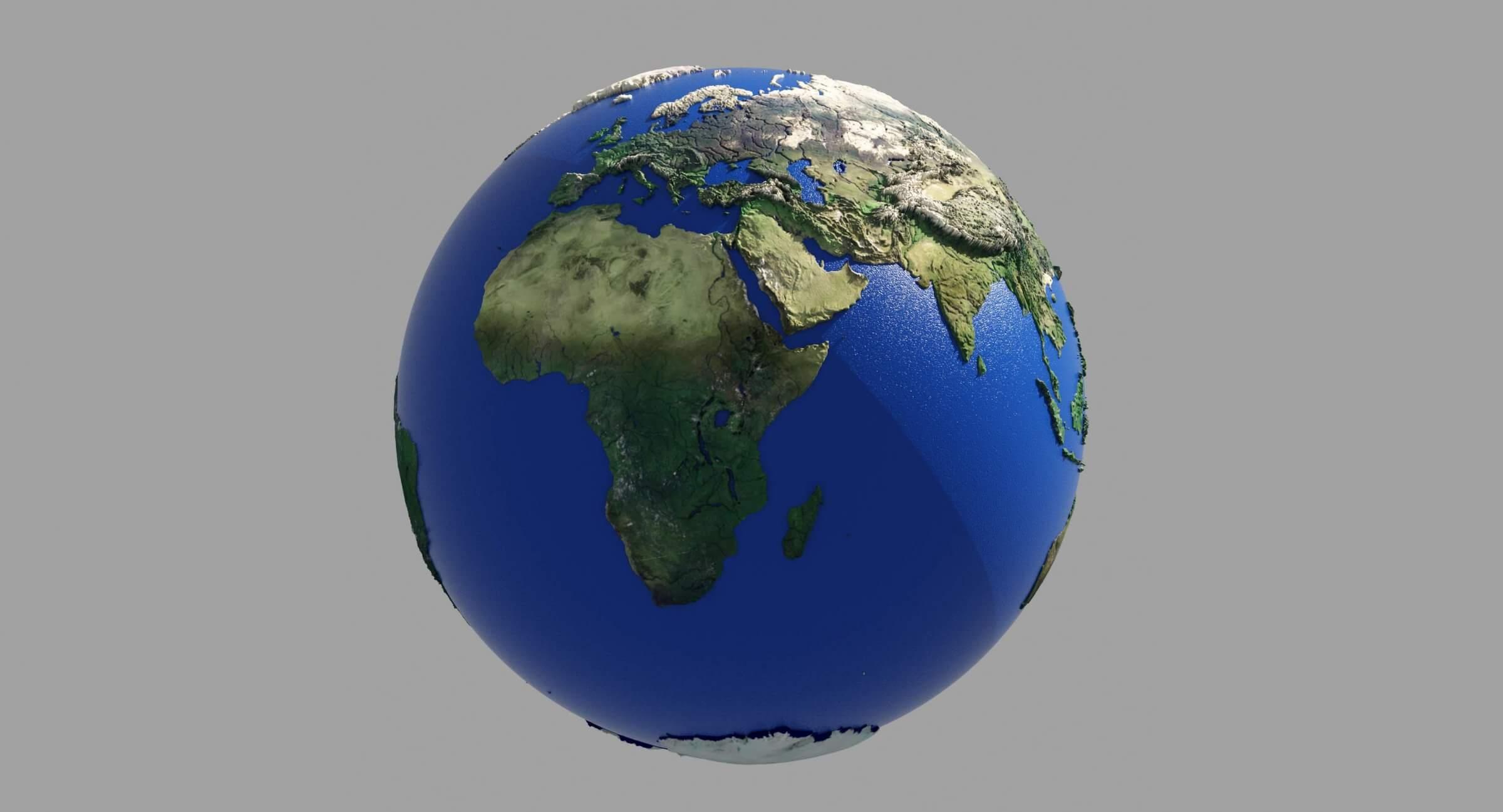 HD Earth Globe 3D Model