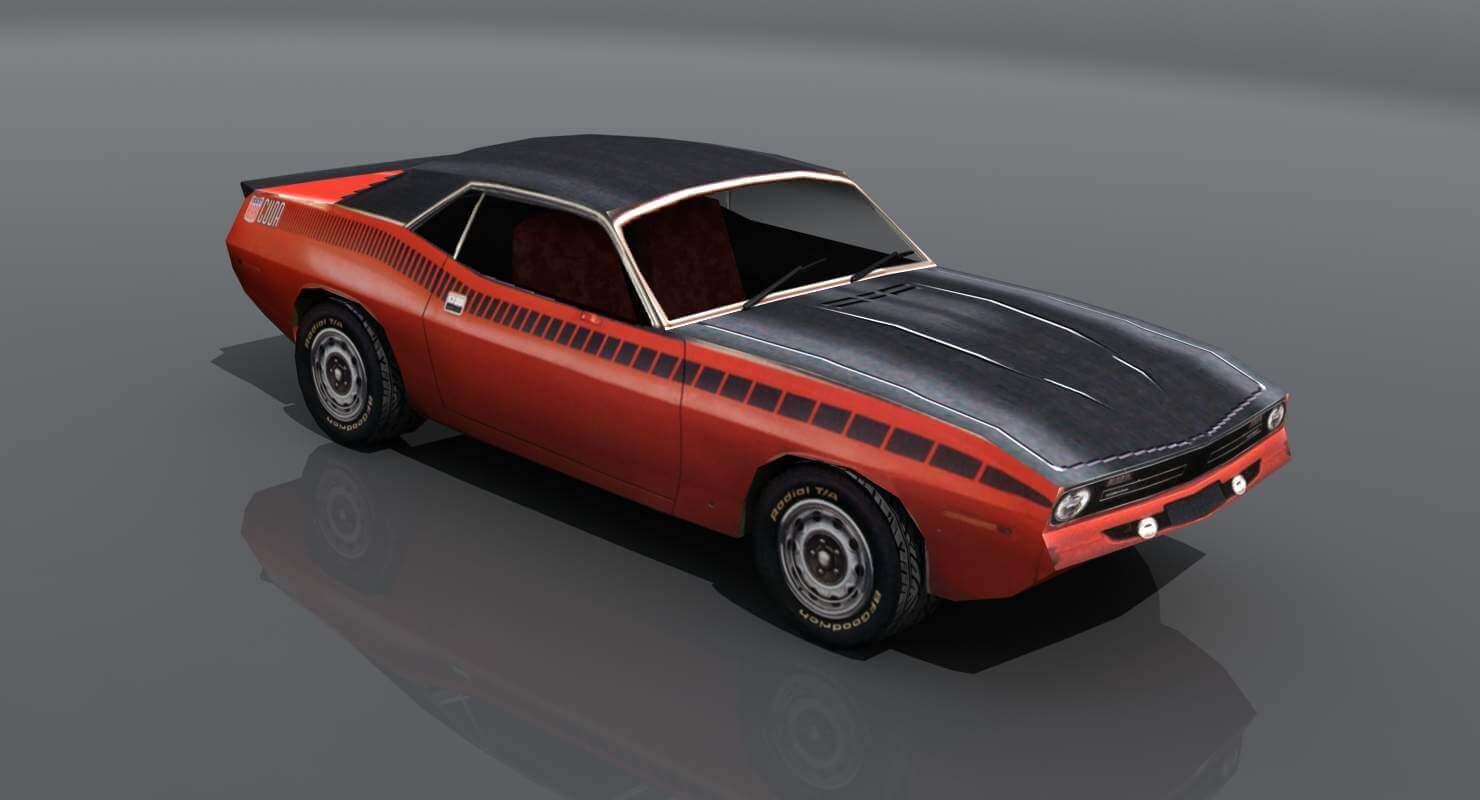 AAR Cuda Sports Car 3D Model