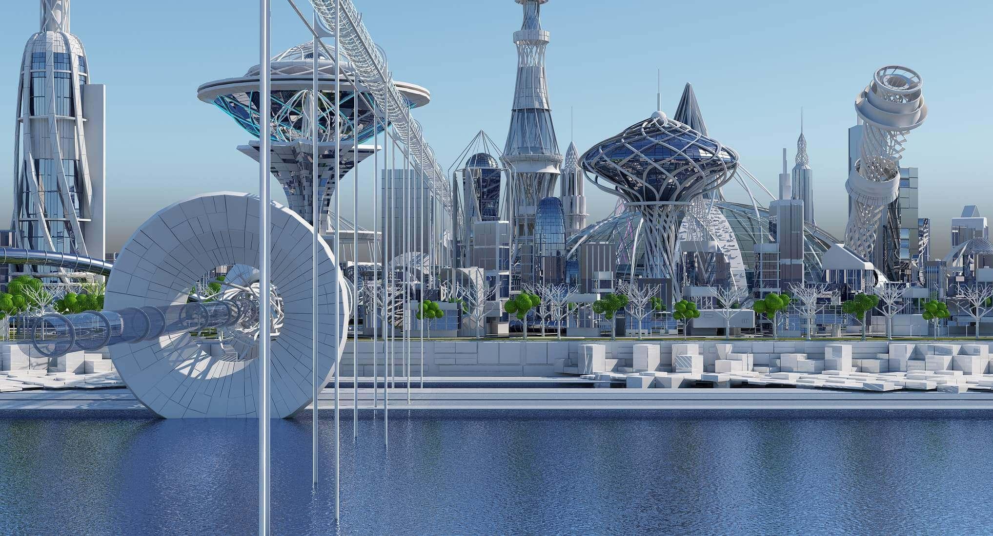 HD Future City 3D Model