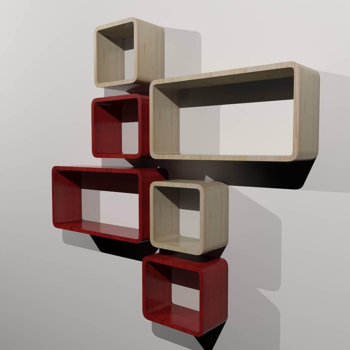 Box Wall Shelves 3d Model