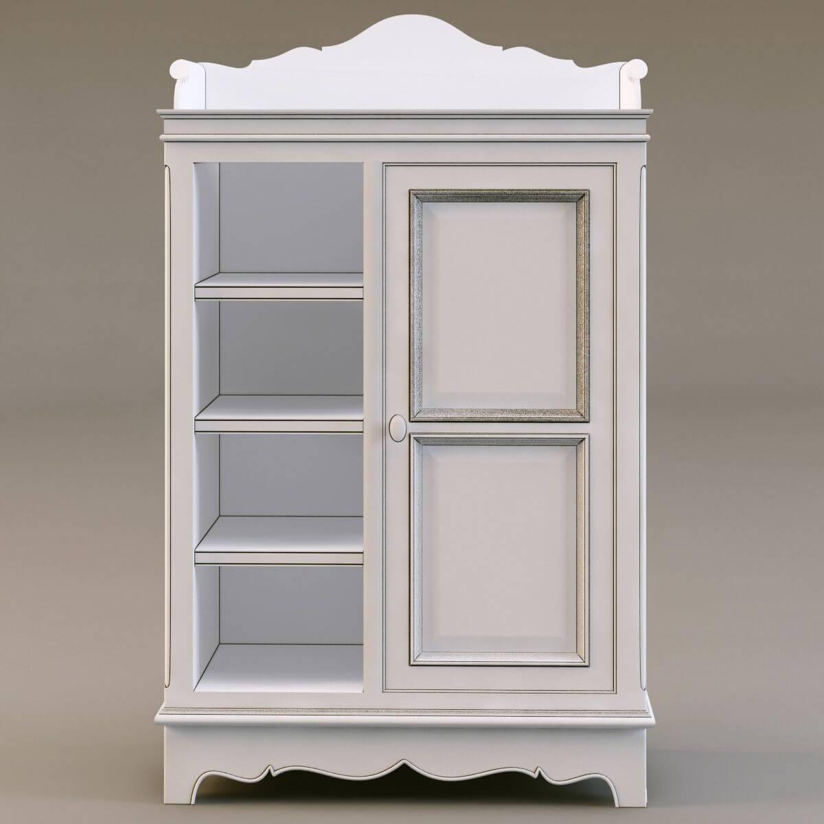 Country Corner Cupboard 3d Model